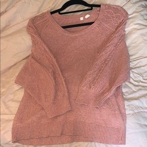 Anthropologie Peach Knotted sweater